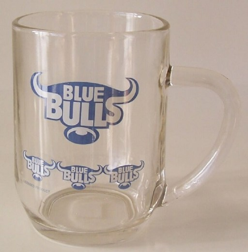 BLUE BULLS BEER GLASS